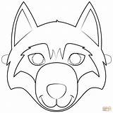 Wolf Mask Printable Coloring Face Template Masks Paper Craft Animal Templates Supercoloring Sheets Crafts Drawing Maske Cartoons sketch template
