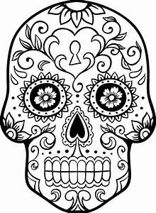 sugar skull coloring page coloring home With day of the dead skull mask template