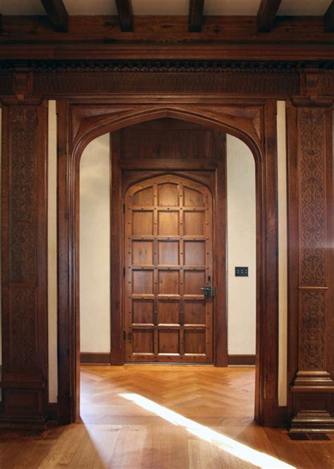 jacobean transitional door traditional interior doors