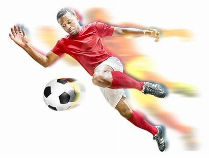 Football Player Soccer Ball Futsal Transparent Sepak