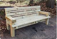 how to build a wood bench Best Of 2011 {DIY Projects}   Centsational Style