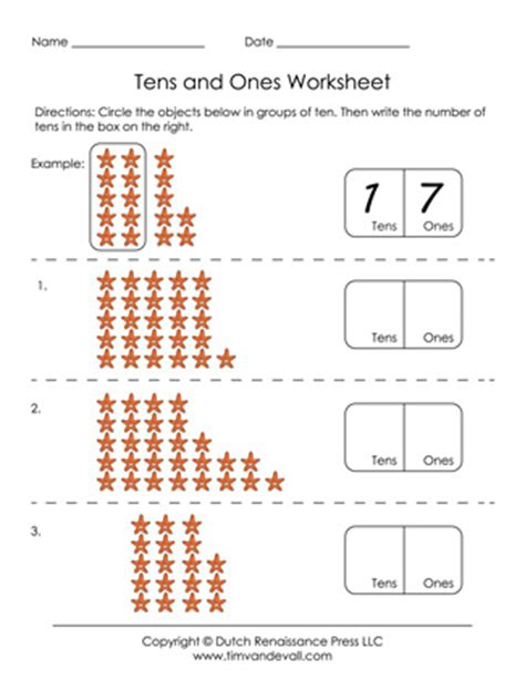 printable tens   worksheets  grade