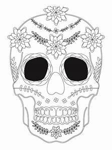 Dessin Qui Fait Tres Peur : sugar skull coloriage halloween a imprimer qui fait peur ~ Carolinahurricanesstore.com Idées de Décoration