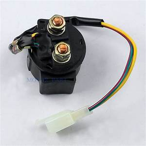 Starter Relay Solenoid Fit Gy6 Scooter Atv 50cc 125cc