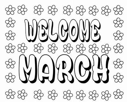 March Coloring Printable Kindergarten Preschool Printables Children