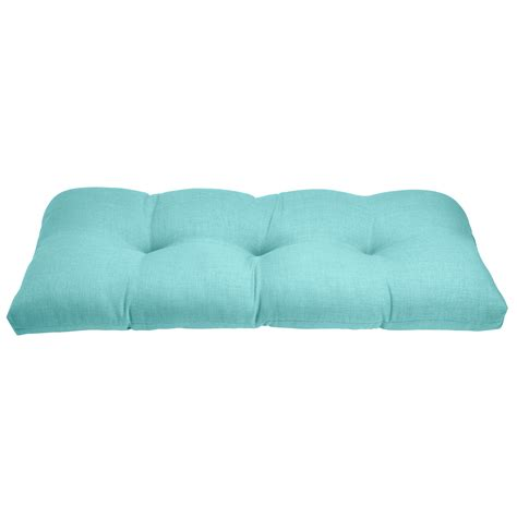Wicker Settee Cushion tufted wicker settee cushion plus size outdoor cushions