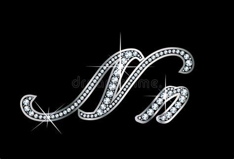 script diamond bling nn letters stock vector illustration  case twinkle