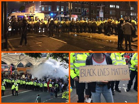 Black Lives Matter Riots In London, Police Attacked
