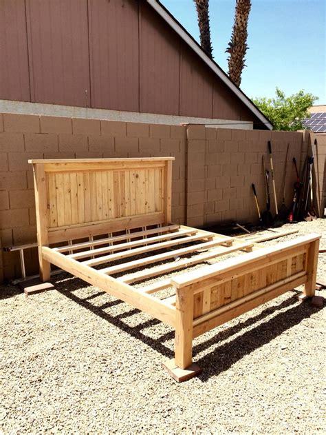 diy king bed frame diy king platform bed king bed frame california king Diy King Bed Frame