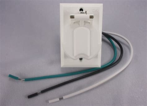 l post electrical outlet add on l post outlet white