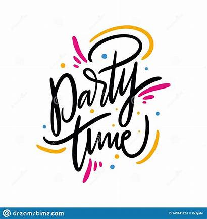 Party Summer Phrase Quote Background Lettering Drawn