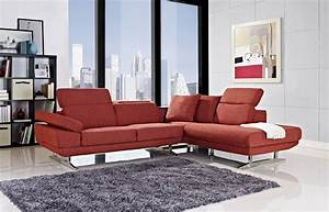 Red sectional sofa i want a red leather couch red leather for Red sectional sofas cheap