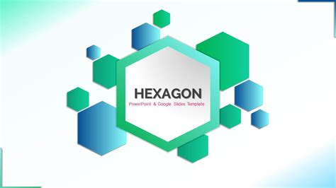 hexagon   google  themes powerpoint