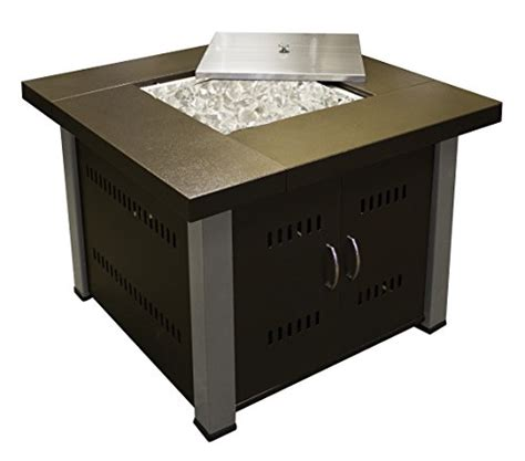 Patio Heaters Fire Pit Cover Propane In Two Tone Square