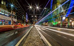 Edinburgh city night road city wallpaper | 2560x1600 ...