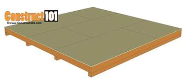 12x12 ground level deck plans 12x12 shed plans gable shed construct101