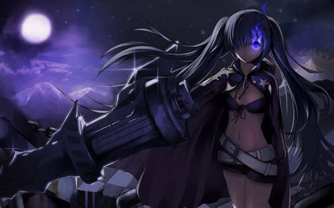 Black Rock Shooter Anime Wallpaper - black rock shooter anime anime weapon strength