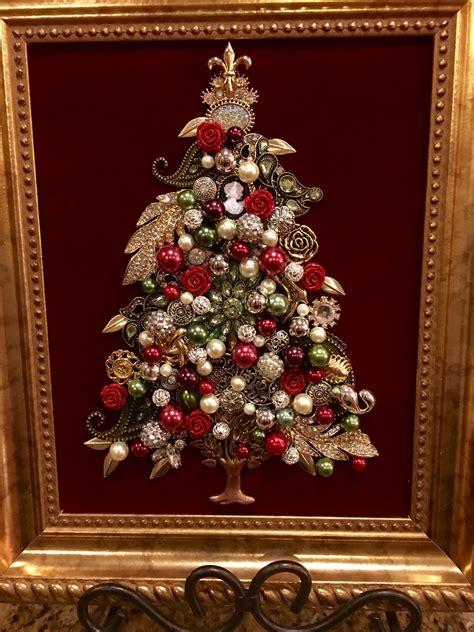 8x10 Jewelry Christmas Tree By Beth Turchi 2016 Vintage