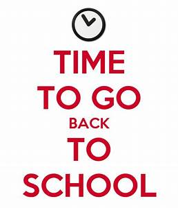 time to go back to school poster guaragna keep