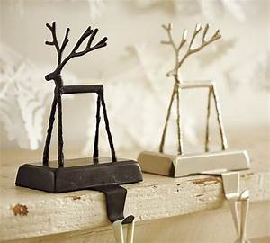 twig reindeer stocking holder christmas stockings and With kitchen cabinets lowes with metal twig tree candle holder