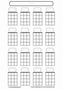 Blank Ukulele Chord Paper