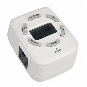 Shop Utilitech 15-Amp 2-Outlet Digital Residential Plug-In ...