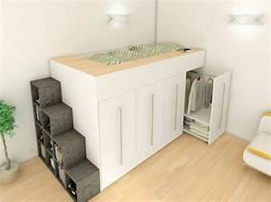 Lit Mezzanine Dressing : 1000 id es sur le th me placard de dressing sur pinterest ~ Premium-room.com Idées de Décoration
