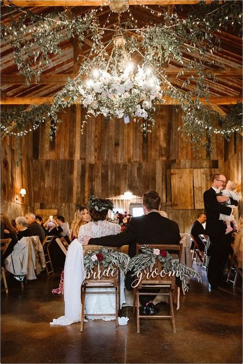 wedding rustic barn weddings christmas table winter decor sweetheart mountain reception greenery tennessee country fall farm decorations venue erinmorrisonphotography party