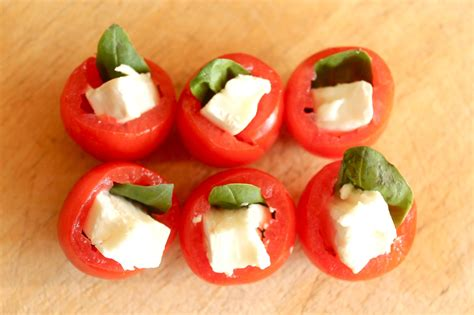 easiest canapes easy canapes tomato basil and goats cheese