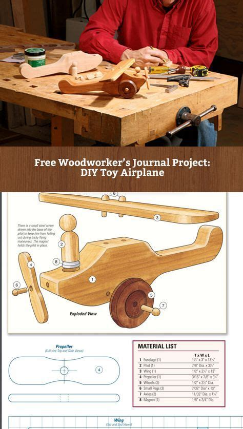 project   build  wooden toy airplane http