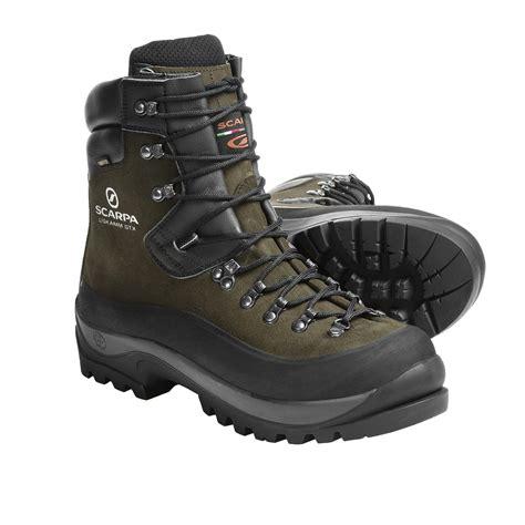 Rugged Boots Men by Scarpa Liskamm Gore Tex 174 Mountaineering Boots Waterproof