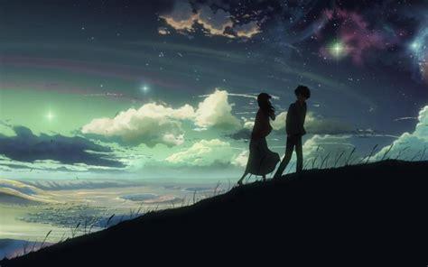 求一张动漫男女坐在草地上看星星的图片,越浪漫越好。谢谢_百度知道