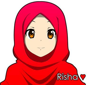 risha  crowmarudeviantartcom  atdeviantart animasi gambar wanita