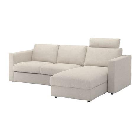 vimle  seat sofa  chaise longue  headrest