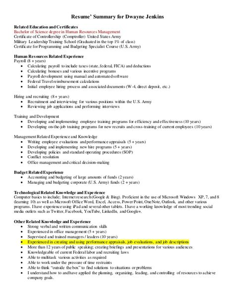 human resources cover letter 1 and resume
