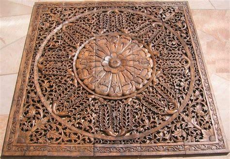 Buy Thai Wood Carving Wall Art Panel Asian Home Decor Online: Thai Teak Wood Carving Panels