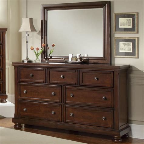 Vaughan Bassett Dresser With Mirror vaughan bassett reflections 7 drawer dresser and mirror