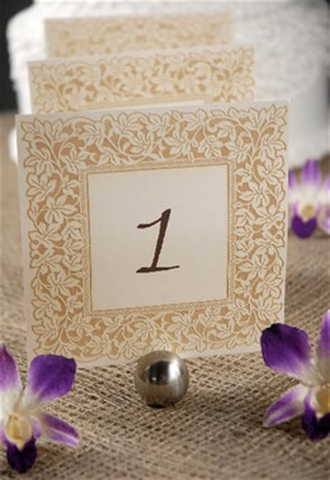 clara laser engraved table numbers   ivory gold