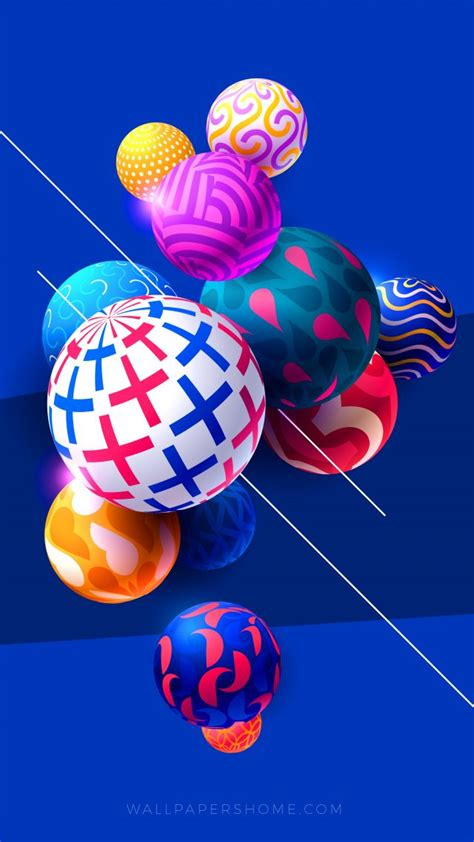 Abstract Balls Picture by Wallpaper Abstract Balls Colorful Modern 4k 5k 8k