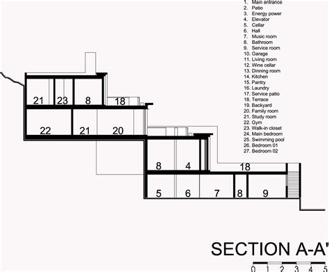 architecture home plans multi level mountain house in mexico