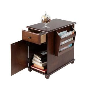 Table With Cabinet And Drawer by Furniture Of America Zenners Walnut Side Table With