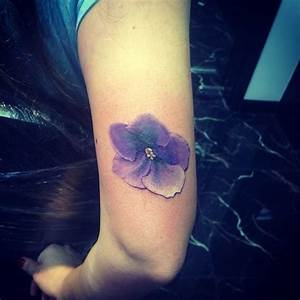 Violet Flower Tattoo Design Ideas With Meaning