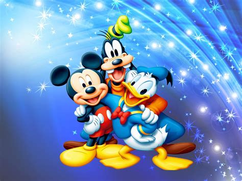mickey mouse donald duck  pluto desktop wallpaper full