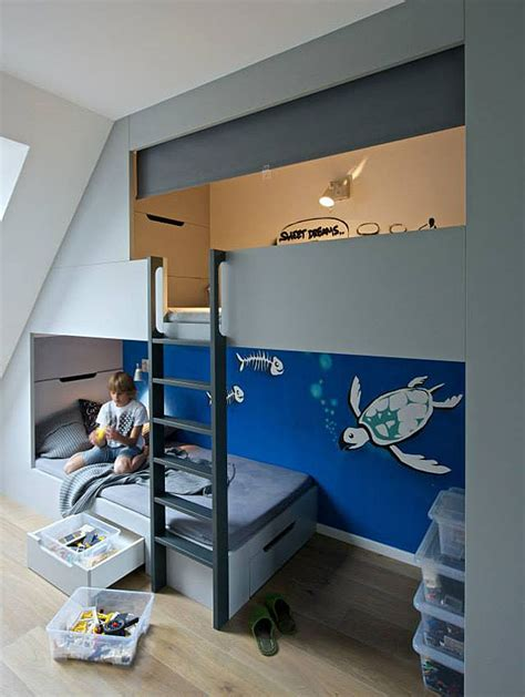 boys bedroom  sleeping loft  plenty  storage