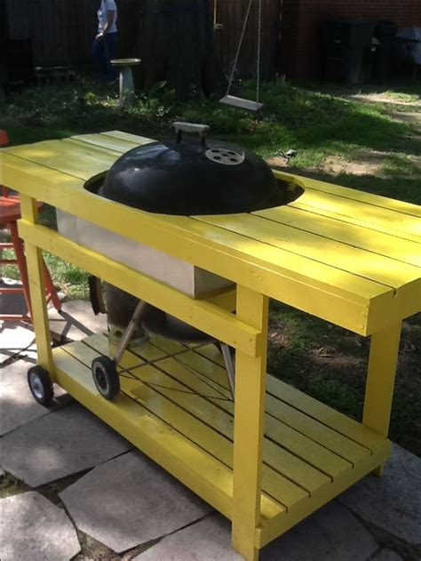 table with grill built in table built around a weber grill my style is diy on