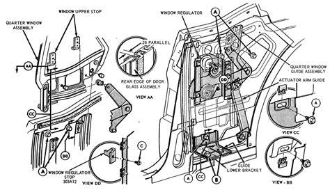 67 Mustng Door Wiring Diagram by Quarter Window Installation Http Www Allfordmustangs
