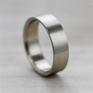 6x15mm comfort fit flat men39s wedding band recycled for Ethical wedding rings