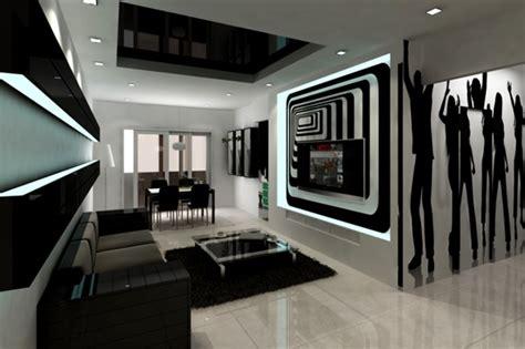 Bilder Wohnzimmer Schwarz Weiss by 20 Wonderful Black And White Contemporary Living Room Designs