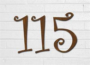 curlz font rustic house numbers or letters set of 5 2 With rustic house numbers letters