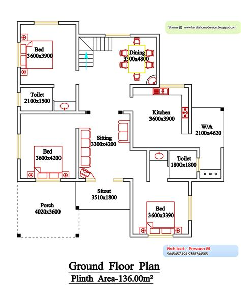 floor plans kerala style houses kerala style floor plan and elevation 6 home appliance